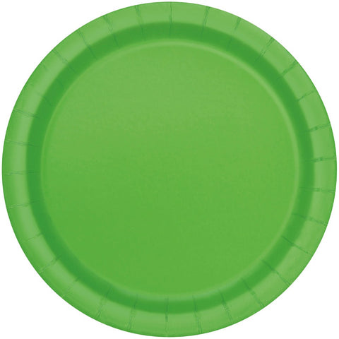 "9"" Lime Green Party Plates"