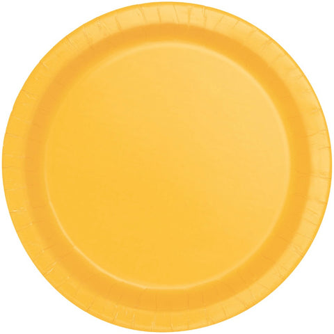 "9"" Yellow Party Plates"