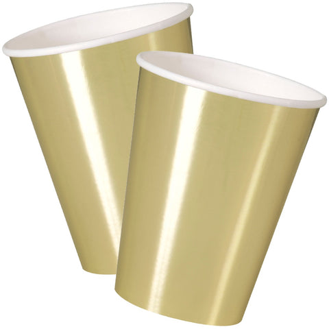 Gold Foil 12oz Paper Cups