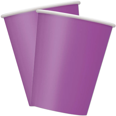 Purple 9oz Paper Cups