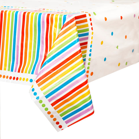 Rainbow Party Plastic Tablecloth - Unique Party - Party Touches