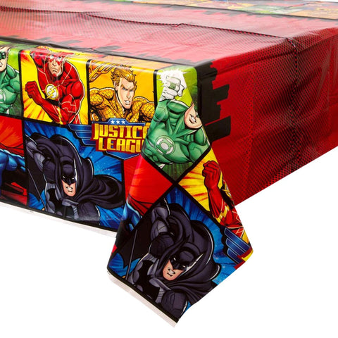 Justice League Plastic Tablecloth - Unique Party - Party Touches