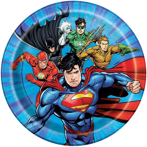 "7"" Justice League Party Plates"