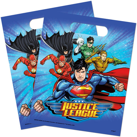 Justice League Plastic Party Bags - Unique Party - Party Touches