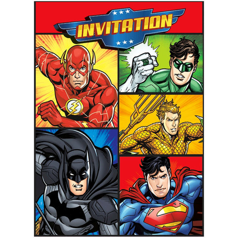 Justice League Party Invitations - Unique Party - Party Touches