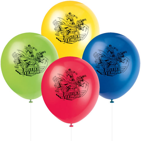 "Justice League 12"" Latex Balloons"