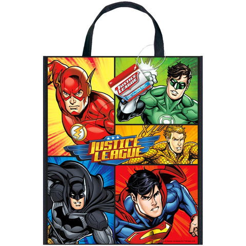 Large Justice League Plastic Party Bag - Unique Party - Party Touches