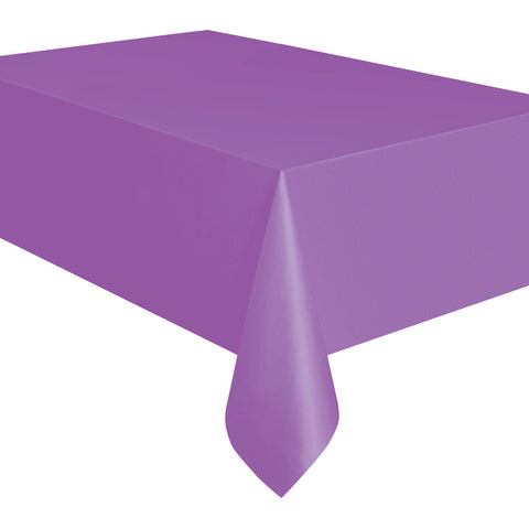 Pretty Purple Plastic Table Cover - Unique Party - Party Touches