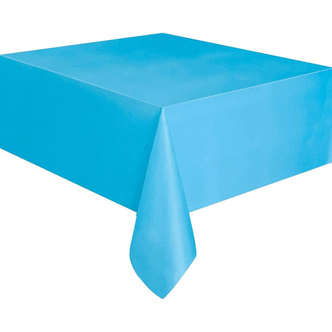 Baby Blue Plastic Table Cover - Unique Party - Party Touches