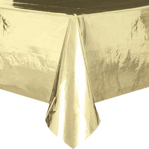 Foil Gold Plastic Tablecloth