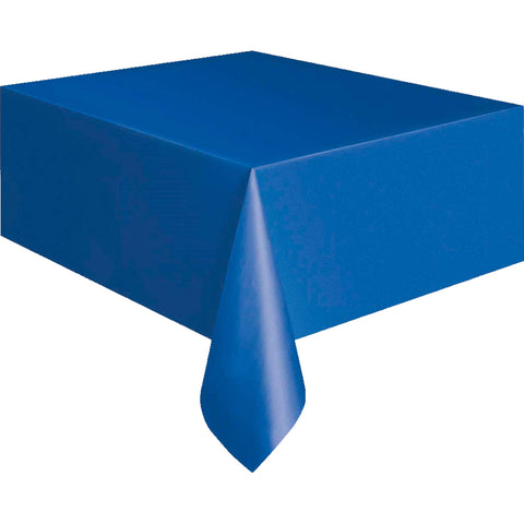 Royal Blue Plastic Tablecloth - Unique Party - Party Touches
