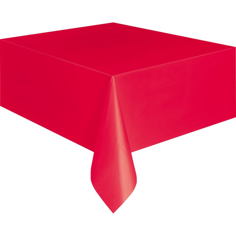 Red Plastic Table Cover - Unique Party - Party Touches