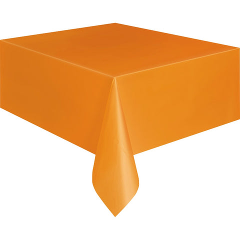 Pumpkin Orange Plastic Table Cover - Unique Party - Party Touches