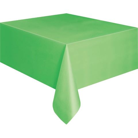 Lime Green Plastic Table Cover - Unique Party - Party Touches