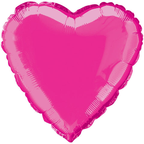 "18"" Hot Pink Heart Foil Balloon - Unique Party - Party Touches"