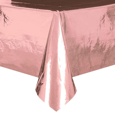 Rose Gold Plastic Table Cover - Unique Party - Party Touches