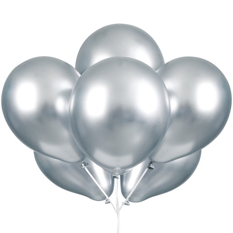 "11"" Platinum Silver Latex Balloons"