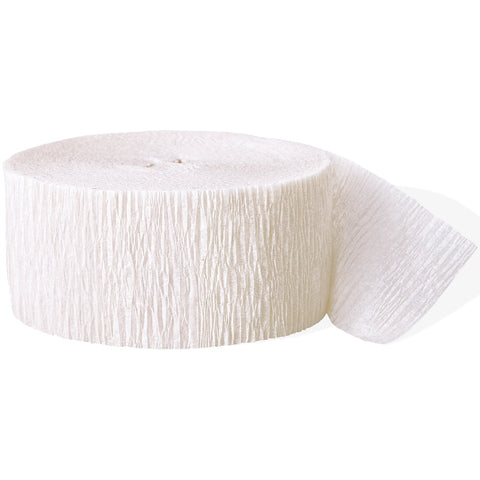 White Crepe Paper Party Streamer