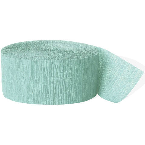 Mint Green Crepe Paper Party Streamer