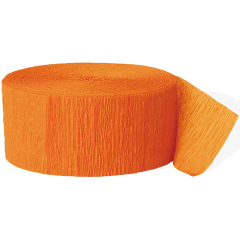 Orange Crepe Paper Party Streamer