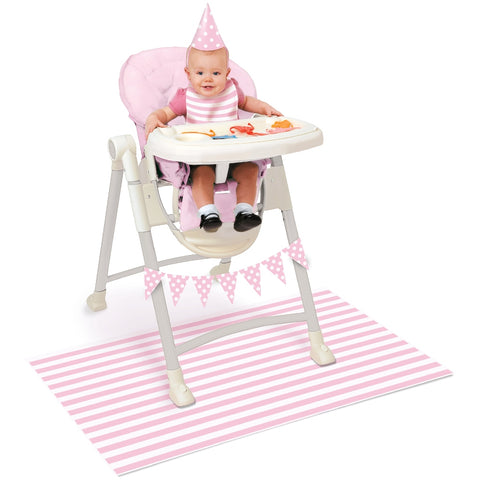 Pink Stripes 1st Birthday High Chair Decorating Kit