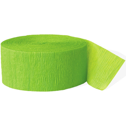 Lime Green Crepe Paper Party Streamer