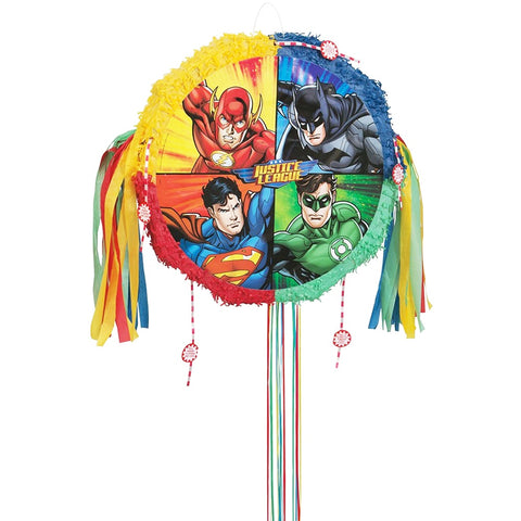 Justice League Pull String Pinata - Unique Party - Party Touches