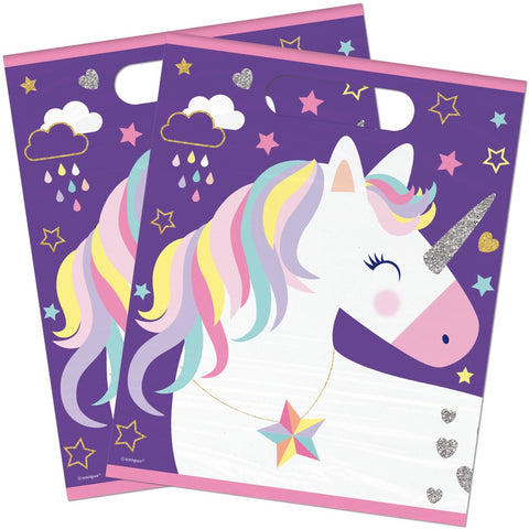 Unicorn Plastic Party Bags