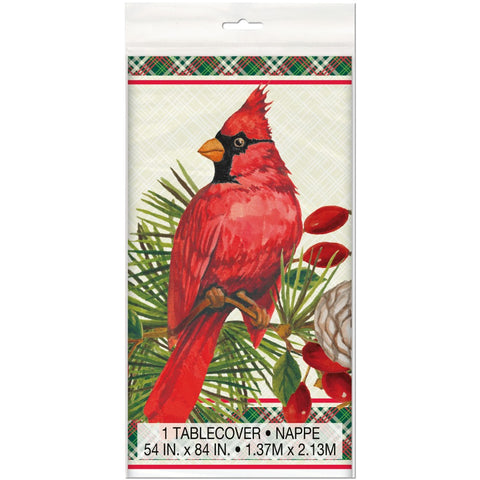 Red Cardinal Christmas Table Cover