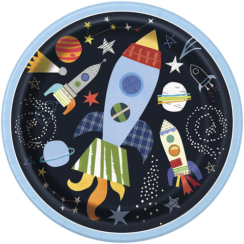 "Outer Space Party 9"" Paper Plates"
