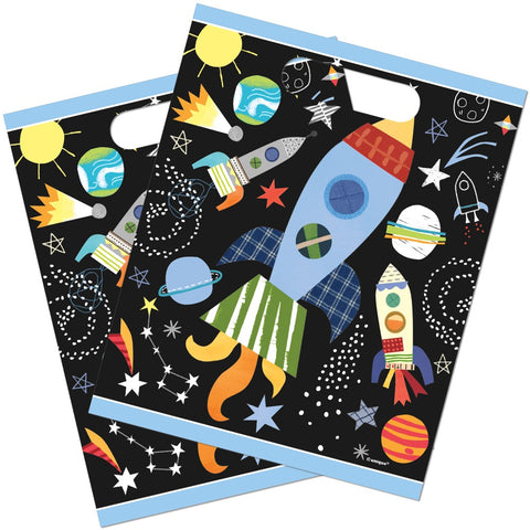 Outer Space Plastic Party Bags