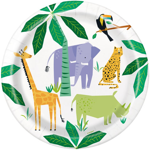 "Animal Safari 9"" Paper Plates"