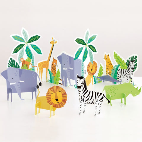 Animal Safari Table Decoration Kit
