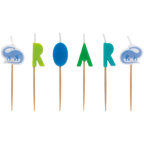 Blue & Green Dinosaur Birthday Candles