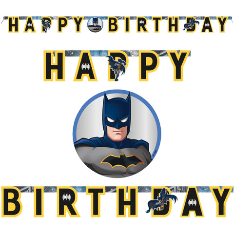 Batman Party Happy Birthday Banner