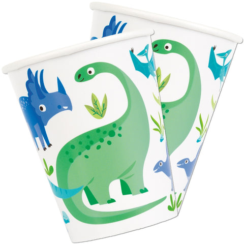 Blue & Green Dinosaur Paper Cups