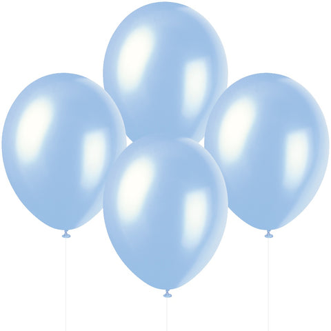 "12"" Pearlised Latex Sky Blue Balloons"