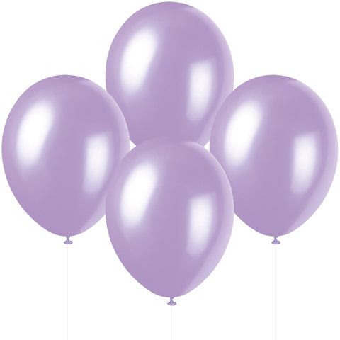 "12"" Pearlised Latex Lovely Lavender Balloons"