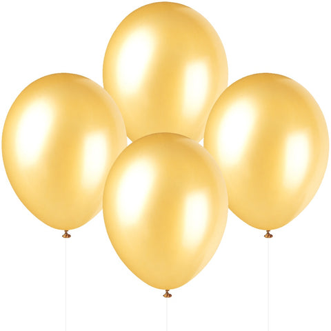 "12"" Pearlised Latex Champagne Gold Balloons"