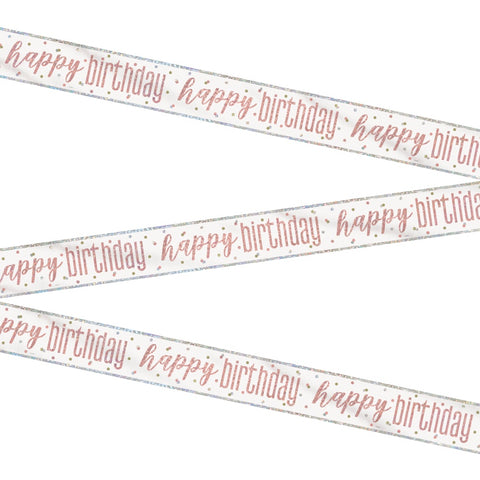 Glitz Rose Gold Happy Birthday Bunting