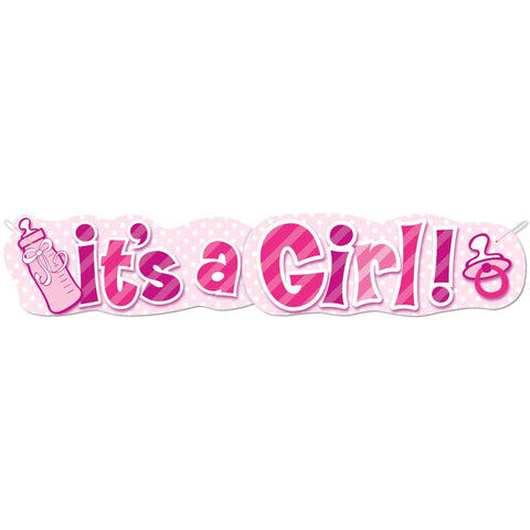 It's A Girl Baby Shower Jointed Banner