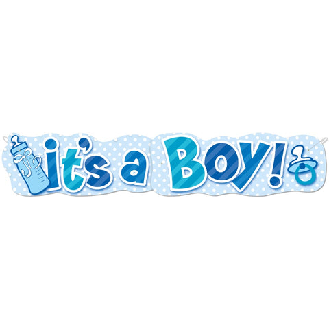 It's A Boy Baby Shower Jointed Banner