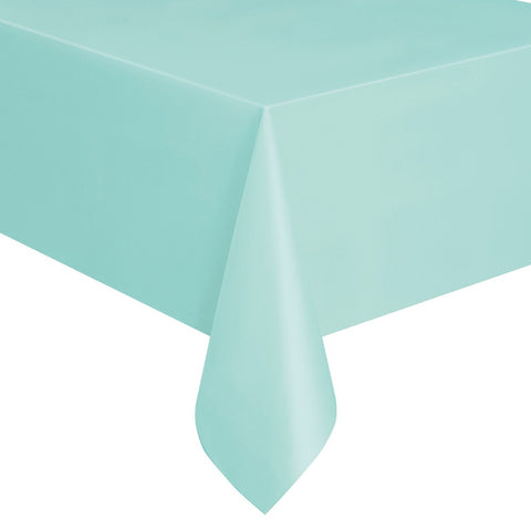 Mint Green Plastic Table Cover - Unique Party - Party Touches
