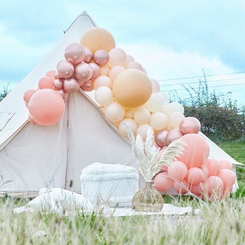 Luxe Peach, Nude and Rose Gold Balloon Arch Kit