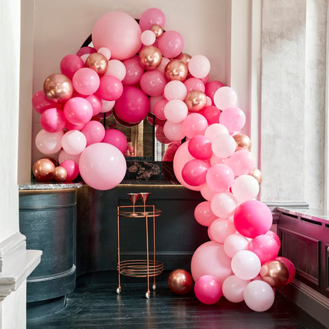 Luxe Pink and Rose Gold Balloon Arch Kit