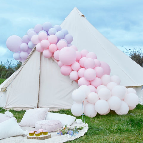 Luxe Pastel Pink and Purple Balloon Arch Kit
