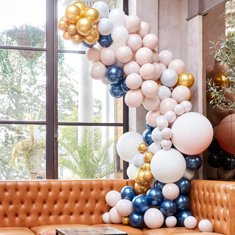 Luxe Marble, Navy & Gold Chrome Balloon Arch Kit