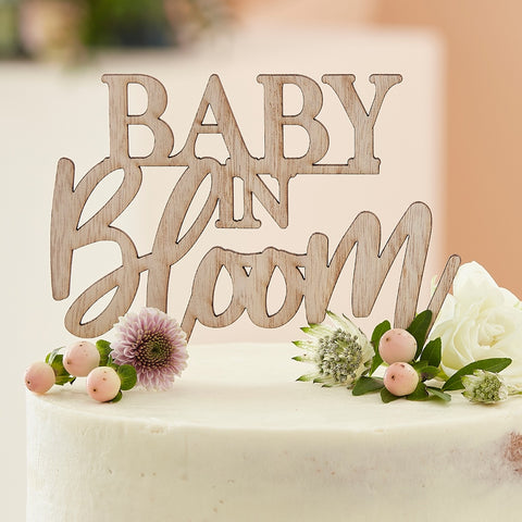 Wooden Baby Shower Cake Topper