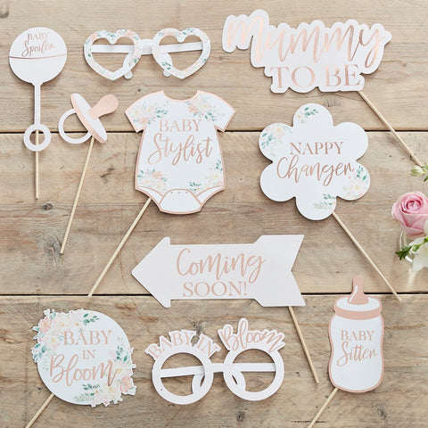 Floral Baby Shower Photo Booth Props