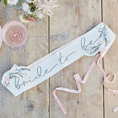 Boho Floral Bride to Be Sash